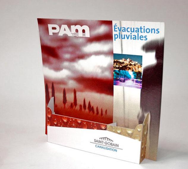 Porte brochures carton - Comptoir